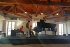 Avec Dmitry Bashkirov in Lake Como Piano International Academy