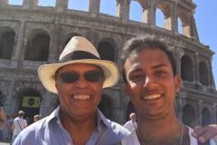 With Maestro Naboré in Rome