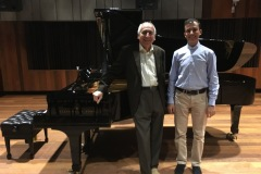 With Martino Tirimo after a three hour long masterclass